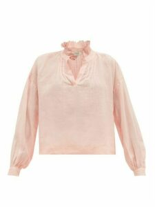 Sea - Lucy Ruffled Ramie Blouse - Womens - Pink