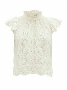 Sea - Daisy Cotton Broderie-anglaise Blouse - Womens - Cream