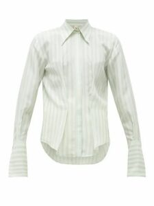 Petar Petrov - Chablis Striped Pintucked Silk Blouse - Womens - Blue White