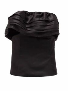 Alexandre Vauthier - Tiered-trim Satin-organza Bustier Top - Womens - Black