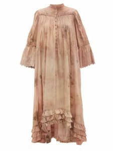 Mimi Prober - Bronte Embroidered Organic-cotton Dress - Womens - Pink