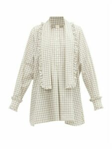 Zanini - Frilled Cotton-poplin Shirt - Womens - White