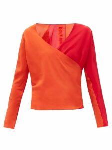Bolt X Edie - Race Silk Wrap Top - Womens - Red Multi