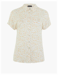 M&S Collection Jersey Printed Short Sleeve Shirt
