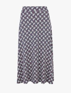 M&S Collection Jersey Floral Print A-Line Skirt