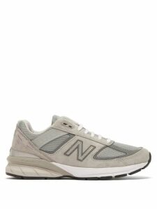 New Balance - 990v5 Suede And Mesh Trainers - Womens - Grey