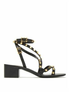 Valentino Garavani - Rockstud Flair Leather Sandals - Womens - Black