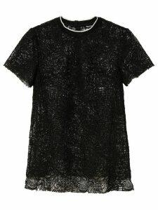 Proenza Schouler floral lace T-shirt - Black