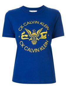 CK Calvin Klein logo printed T-shirt - Blue