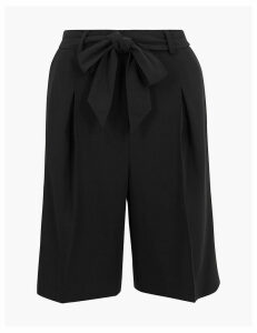 M&S Collection Tailored Belted Shorts