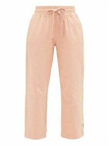 Adidas By Stella Mccartney - Cropped Cotton-jersey Track Pants - Womens - Light Pink