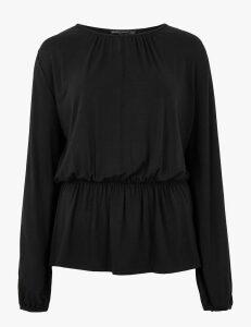 M&S Collection Waisted Long Sleeve Blouse