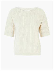 Per Una Cotton Textured Jumper