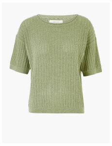 Per Una Cotton Textured Jumper