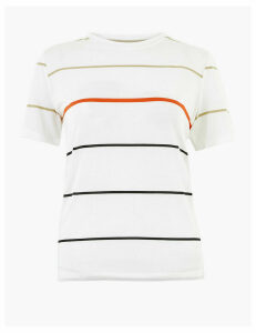 Autograph Wide Striped Regular Fit T-Shirt