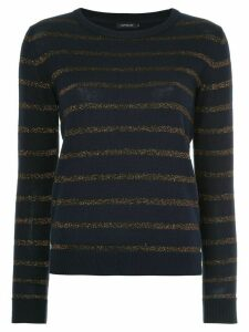Loveless striped lurex sweater - Black