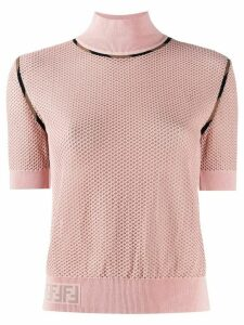 Fendi turtle neck slim-fit jumper - PINK