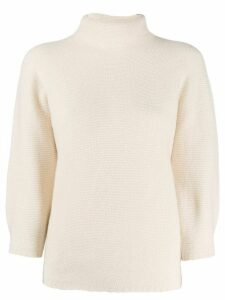 Max Mara cropped sleeve jumper - White