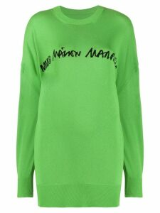 Mm6 Maison Margiela logo detail oversized jumper - Green