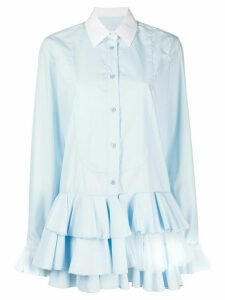 Viktor & Rolf ruffle trimming shirt - Blue
