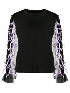 Viktor & Rolf ribbon-embellished boxy sweatshirt - Black
