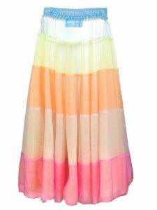 Viktor & Rolf colour-block tulle skirt - PINK