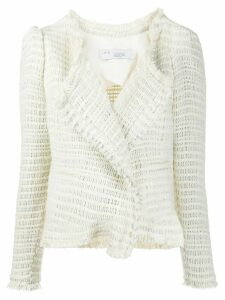 IRO Diana fitted tweed jacket - NEUTRALS