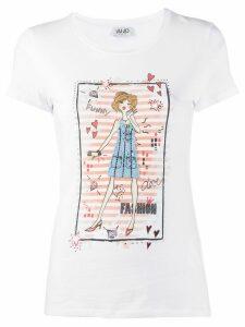 LIU JO short sleeve fashion girl print T-shirt - White