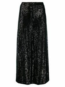 Talbot Runhof Gilia sequin palazzo pants - Black