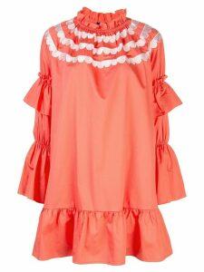 Cynthia Rowley Eden scalloped embroidered dress - ORANGE