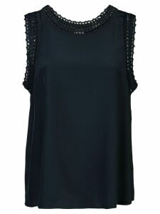Cinq A Sept Elina crochet-trimmed tank top - Blue