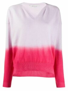 Stella McCartney ombre knitted jumper - PINK