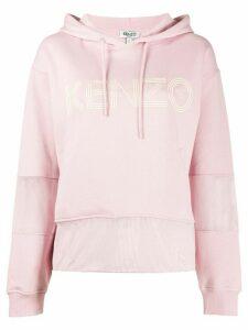 Kenzo mesh panel hoodie - PINK