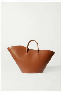Little Liffner - Tulip Large Leather Tote - Brown