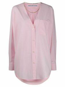 Alexander Wang oversized deep v shirt - PINK