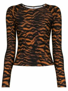 The Upside Imogen tiger print rashie top - Brown