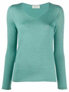 Zanone v-neck knit top - Green