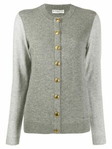 Givenchy 4G buttoned two-tone cardigan - Grey