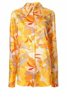 Acler Haslam abstract print blouse - ORANGE