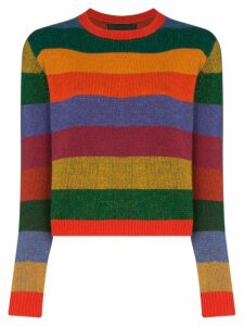 The Elder Statesman striped cashmere jumper - Red