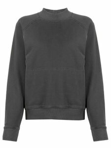 YMC mock neck cotton sweatshirt - Grey