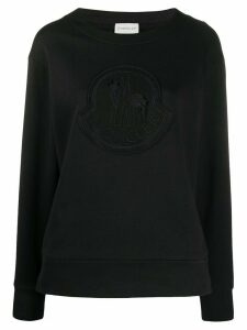 Moncler logo detail sweatshirt - Black