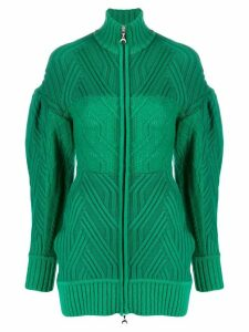 Marine Serre cable knit cardigan - Green