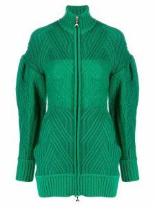 Marine Serre cable knit cardigan - Green