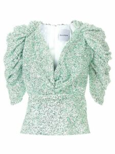 Halpern embellished structured top - Green