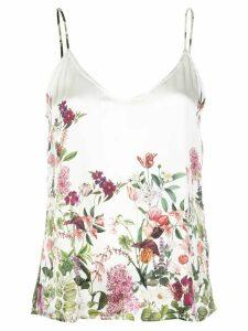Madison. Maison Lena floral-print silk top - White