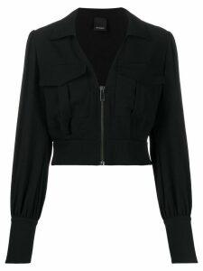 Pinko zipped front shirt jacket - Black