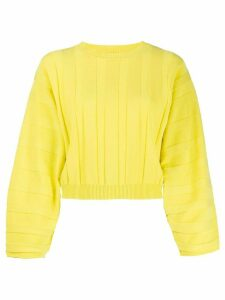 Pinko ribbed crew neck jumper - Yellow