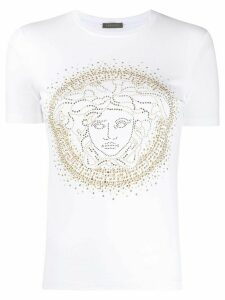 Versace Medusa head studded T-shirt - White