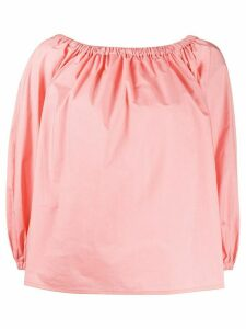 La Doublej Paloma off-the-shoulder shirt - PINK